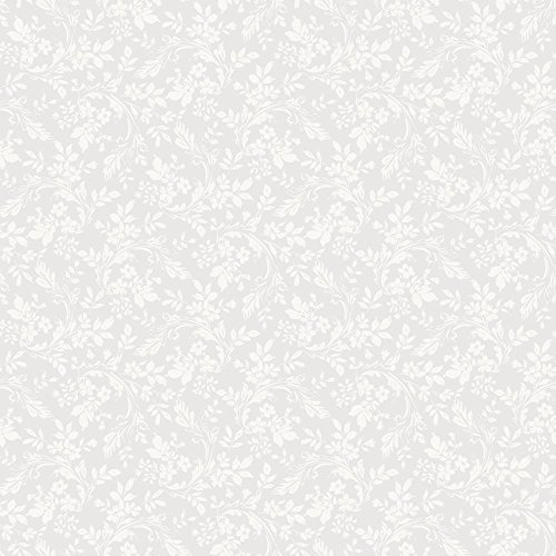 Lavender Hill Floral (York Wallcoverings GD5412 English Hills Silhouette Allover Wallpaper, Pale Lavender/Cream)