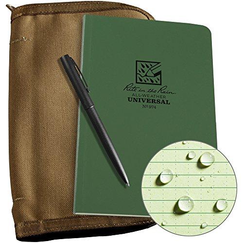 Field Book Flex Bound - Rite in the Rain Weatherproof Bound Book Kit: Tan CORDURA Fabric, 4 5/8