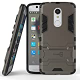 ZTE Axon 7 Mini Case, CoverON® [Shadow Armor Series] Hard Slim Hybrid Kickstand Phone Cover Case for ZTE Axon 7 Mini - Gray