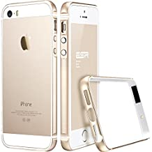 iPhone 5/5S Case, ESR Fluencia Series Strengthened Protective Metal Trim[Shock Absorbent] [Ultra Thin][LightWeight] [Scratch-Resistant] for iPhone 5/5S [Free HD Clear Screen Protector](Champagne Gold)