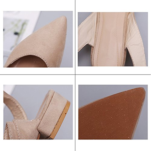 Tied Cross Toe Flats Fashion Kenavinca Casual 2018 Ankle 5 Flock 077 Beige Women Slingbacks Female Pointed Strap Woman 5 Shoes Summer Riband qEtX5qwr0x