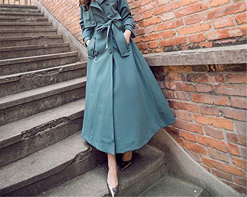 Inverno Gonna Per Con Tuta M Cappotto Verde Le Keamallltd Vestiti Cintura Trench Autunno Femminile Sportiva Donna Selvaggio Lungo Donne Coat Bq5RP