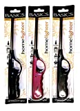 AK Pack of 3 Refillable Safety Gas Candle BBQ Fire Lighter Plastic 27 cm Multi-Colour