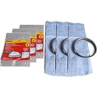 Shop Vac Vacuum Cleaner Reuseable Dry Filter Comes With 9 Filter and 3 Ring Fits Shop Vac Models QS60A, QS30A, QS20A, QPV10.5B, QPV10.5