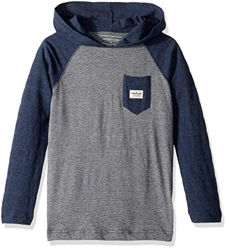 Quiksilver Boys' Big Michi Hood Youth Knit Crew, Medieval Blue Heather, S/10 ()