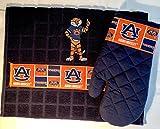 Aubie and Auburn Kitchen Towel & Mitten Set of 2