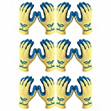 Atlas KV300 Kevlar Natural Rubber Palm Work Glove, Medium, 6-Pair