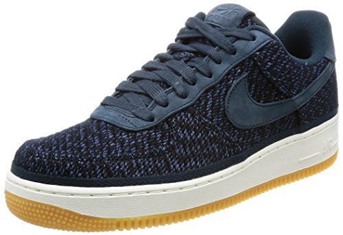 - Nike Men's Air Force 1 07 Indigo Armory Navy/Ankle-High Cotton Fashion Sneaker - 10M