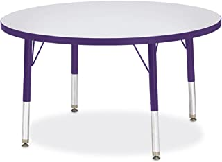 """product image for Jonti-Craft Kydz Activity Table 36"""" Diameter/Gray Top/Purple Edge/Toddler Height"""