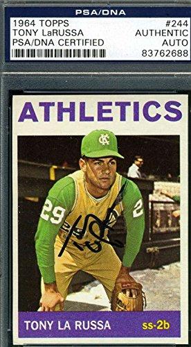 TONY LARUSSA PSA DNA COA Autograph 1964 TOPPS Rookie Authentic Hand Signed