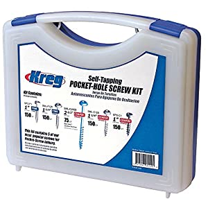 Kreg 112874 Pocket-Hole Screw Kit 675pce - Most common sizes