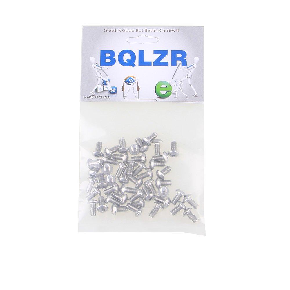 BQLZR Metrisch Gewinde M4 Kopf Innensechskant Kappe Schrauben Bolt Edelstahl 304 Packung von 50