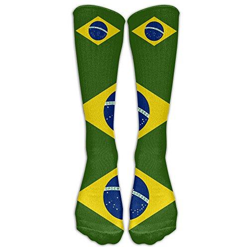 BRAZIL NATIONAL FLAG Sports Outdoor Unisex Stockings Men's&women's High Socks One Size