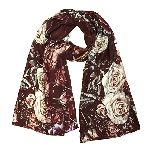 Wrapables Luxurious Charmeuse Scarf Rolled