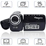 Digital Video Camcorder, Heegomn FHD 1080P 1920x1080 Video Camera 2.0 LCD 12MP Digital Video Recorder with 270 Degree Rotation Screen, Black