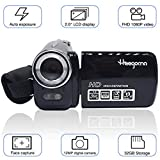 Digital Video Camcorder, Heegomn FHD 1080P 1920x1080 Video Camera 2.0'' LCD 12MP Digital Video Recorder with 270 Degree Rotation Screen, Black