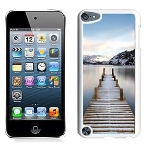 NEW Unique Custom Designed iPod Touch 5 Phone Case With Wooden Lake Bridge_White Phone Case