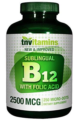 UPC 095234152533, TNVitamins B-12 Sublingual Tabs 2500 Mcg - 250 Tablets