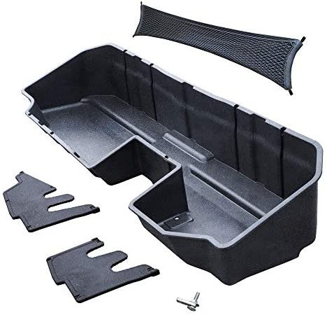 Tyger Auto Underseat Storage Box for 2019-2020 Chevy Silverado/GMC Sierra 1500; 2020 Silverado/Sierra 2500 3500 HD | Double Cab & Crew Cab New Body Style | Not for 2019 LD or Limited | TG-CB5C2278