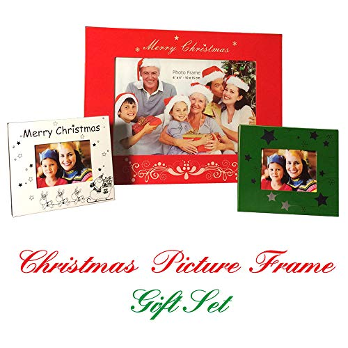 X2 Depot Holiday Special!!! Christmas Picture Frame Gift Set, Great Gift for Family, Dad, Mom, Grandpa, Grandma, ()