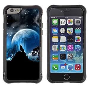 iArmor Hybrid Anti-Shock Defend Case / Full Moon Wolf Wolves Howl Stars / Apple iphone 5c