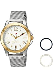 Tommy Hilfiger Women's Quartz Stainless Steel Casual Watch, Color:Silver-Toned (Model: 1781677)