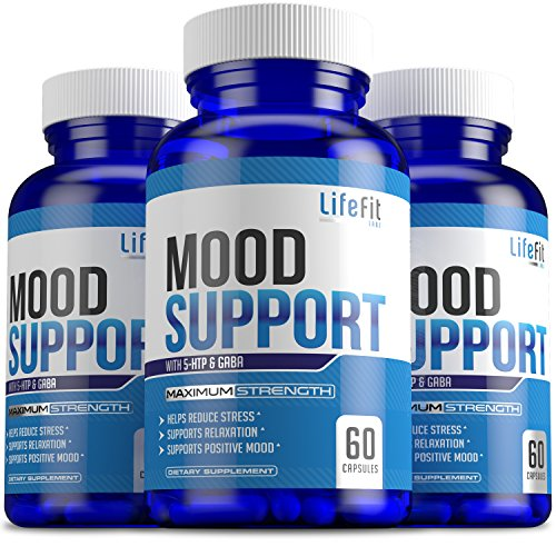 Mood Builder - Premium Mood Support Supplement | Superior Efficiency Natural Stress Relief | Vegan Dietary Herbal Calming Capsules for Men & Women | Boosts Relaxation & Overall Well being by LifeFit Labs
