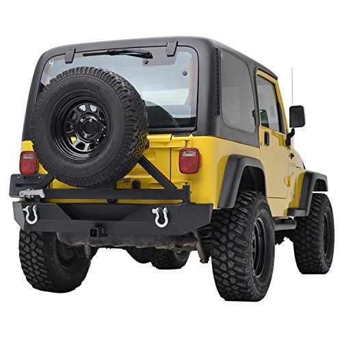 Eag Rear Bumper With Tire Carrier Swing Off Road Fit For