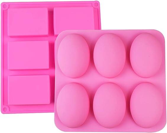 6 Hohlraum Runden Silikon Pudding Wachs Seifenformen Formen Tablett Handmade DIY