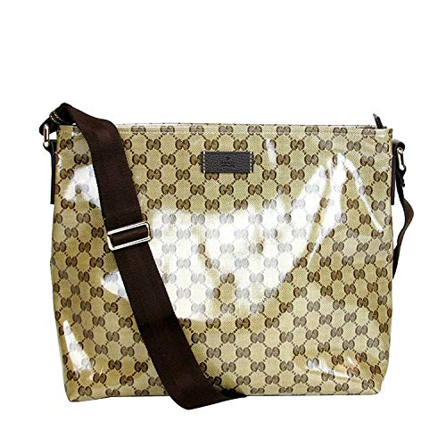 Gucci Unisex Brown Crystal Canvas GG Messenger Bag 339569 9790 (Gucci Original Gg Canvas)