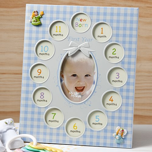 Baby Boy Gifts Uae : Baby s st year photo collage frame pictures gift