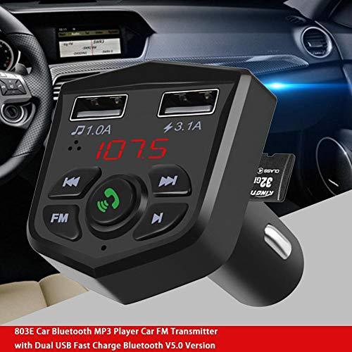 StageOnline Reproductor De Bluetooth para Automóvil, Reproductor De MP3 Con Transmisor De FM para Automóvil Con Doble USB Carga Rápida Versión De Bluetooth V5.0 (Automovil Mp3)