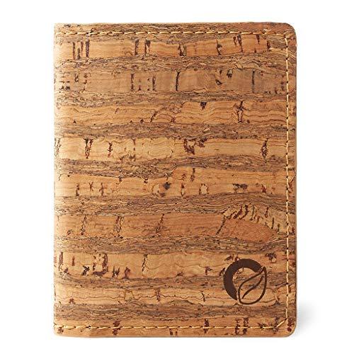 Corkor Slim Wallet for Men RFID   Vegan Non Leather   Bifold for Cards Cash Zebra