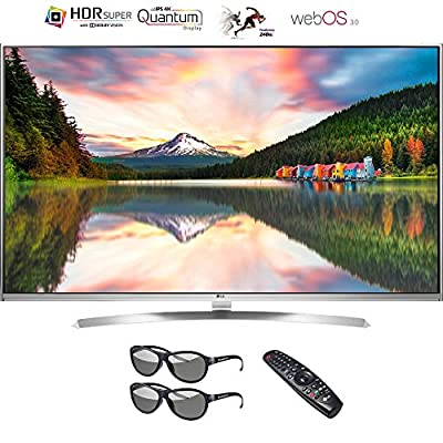 "LG 65"" 4K Super UHD HDR 240Hz Smart 3D LED TV w/ Magic Remote & Two 3D Glasses - (Certified Refurbished)"