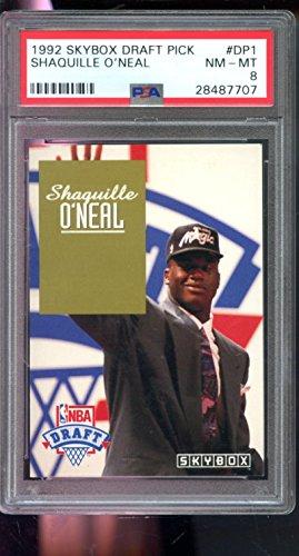 1992-93 Skybox NBA DP1 Draft Pick Shaquille O'Neal Shaq ROOKIE PSA 8 Graded Card