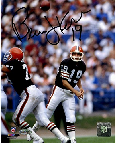 NFL Cleveland Browns Bernie Kosar Signed Browns Drop Back to Pass 8x10 - Cleveland Kosar Browns Bernie