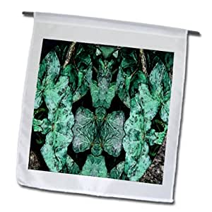Jos Fauxtographee Abstract - Leaves Done in a Fresco Painting all Over The Page in Light and Dark Green - 18 x 27 inch Garden Flag (fl_55866_2)