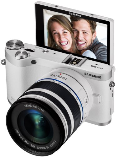 Samsung NX300M 20.3MP CMOS Smart WiFi & NFC Mirrorless Digital Camera with 18-55mm Lens and 3.3