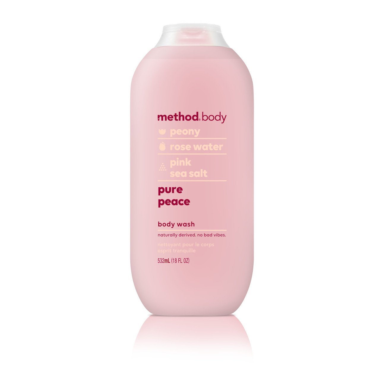 Method Body Wash, Pure Peace, 18 Ounce (6 Count)