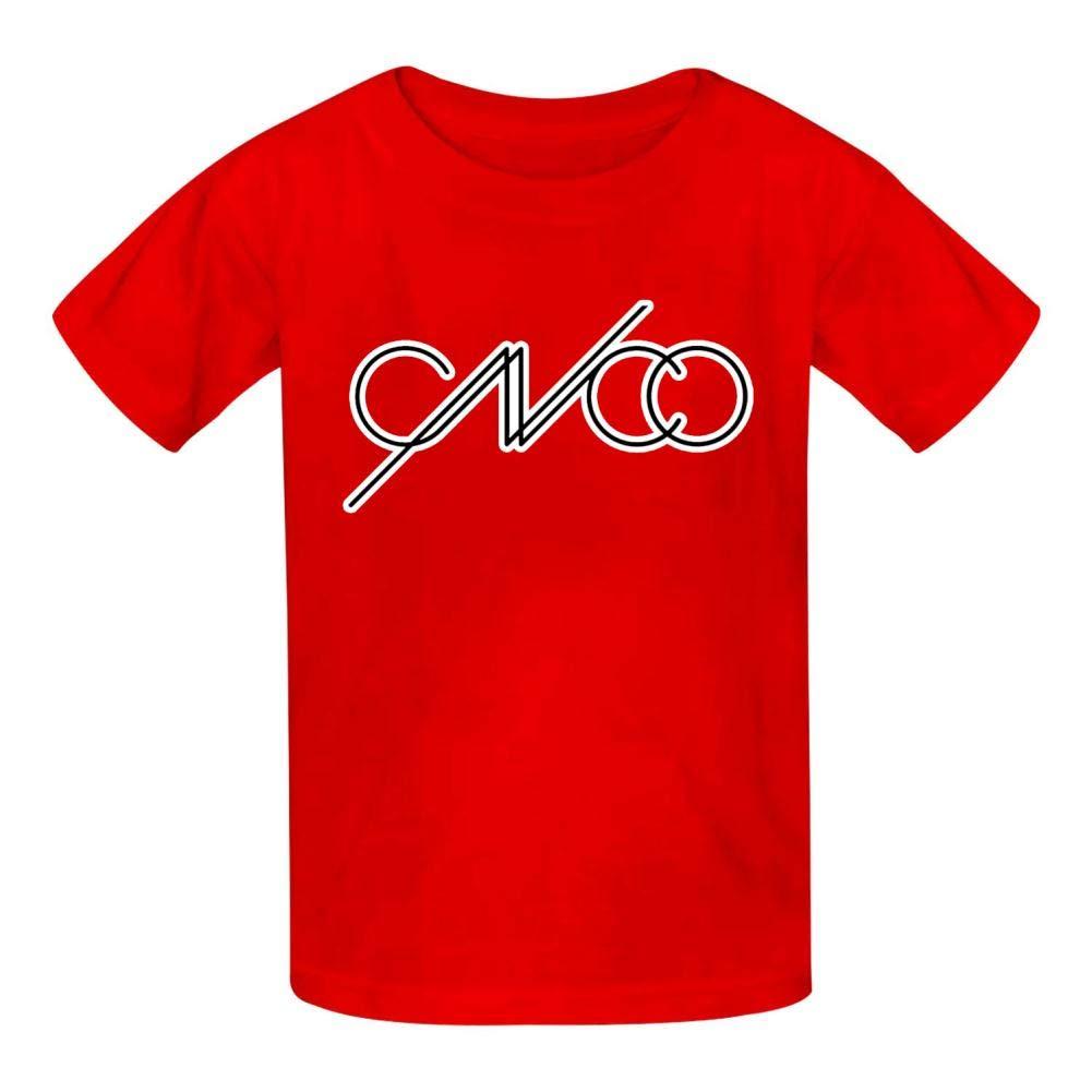 YOUYUB CNCO Classic Logo Youth Kids Cotton T-Shirts Summer Slim-fit Printed Fashion Tee