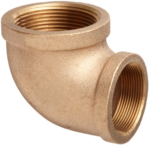 Elbow Brass Reducing (Lead Free Brass Pipe Fitting, 90 Degree Reducing Elbow, Class 125, 1
