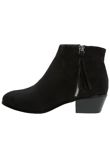 b86f9e55cf69 Even Odd Ankle Boots Damen in Schwarz oder Rosa - Stiefeletten mit  Blockabsatz – Kurzschaft Stiefel mit