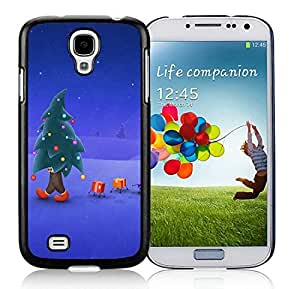 Best Buy Design Samsung S4 TPU Protective Skin Cover Christmas Tree Black Samsung Galaxy S4 i9500 Case 1 by icecream design