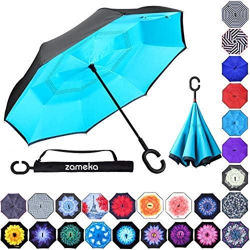 ZAMEKA Inverted Umbrellas Windproof Protection