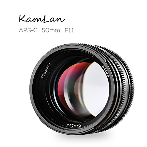 Kamlan 50mm F1.1 APS-C Large Aperture Manual Focus Lens Standard Prime Lens