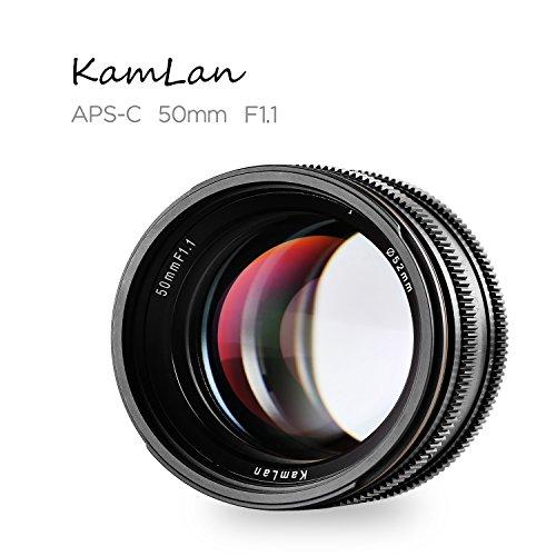 Kamlan 50mm/F1.1 Standard Prime Lens with X Mount for All Fujifilm X Series Mirrorless Digital Cameras, APS-C, Large Aperture