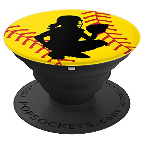 Softball Catcher - PopSockets Grip and Stand for Phones and Tablets