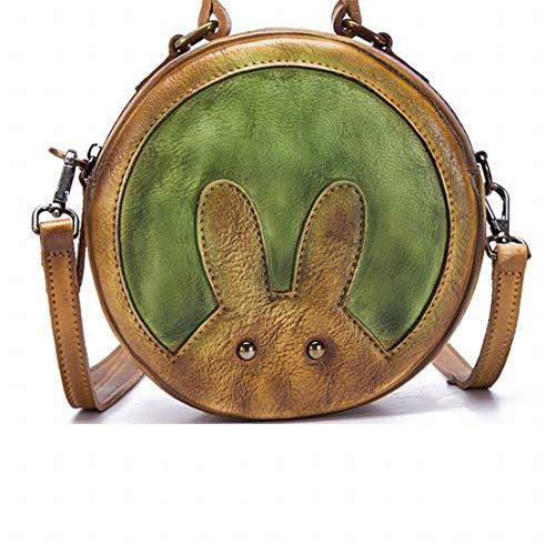 Lapin Sac Et Femme Green En color Sixminyo Pour Cuir Green Bandoulière Rond À wZH4qq6n