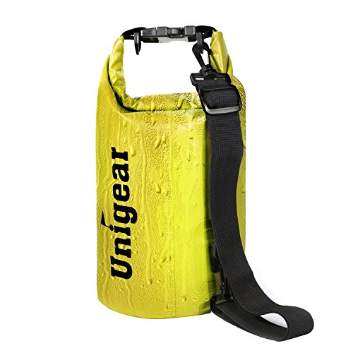 Dry Bag Sack, Waterproof Floating Dry Gear Bags for Boating, Kayaking, Fishing, Rafting, Swimming, Camping and Snowboarding (Yellow, 5L)