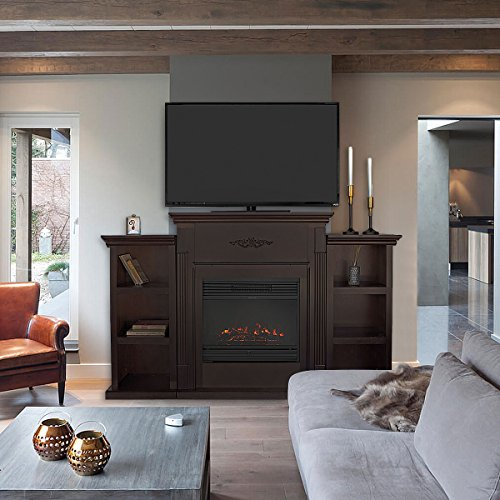 XtremepowerUS Electric Fireplace Bookcases fireplace